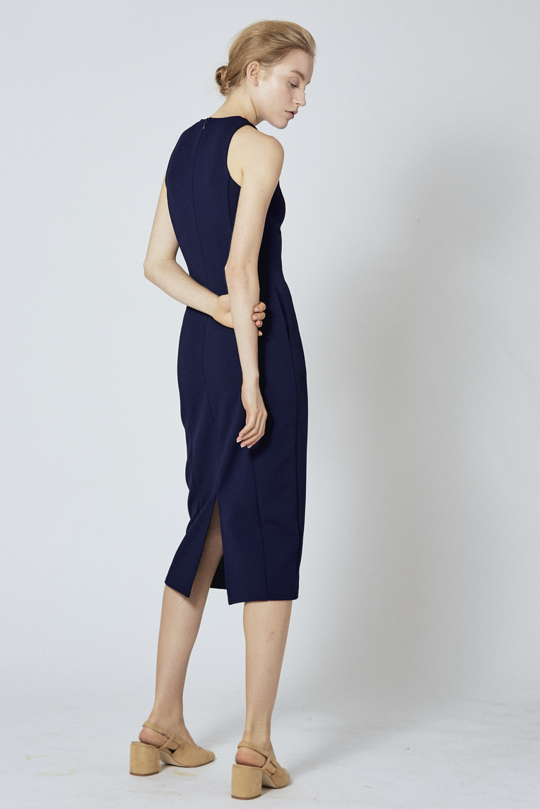 Fitted Longline Midi Dress