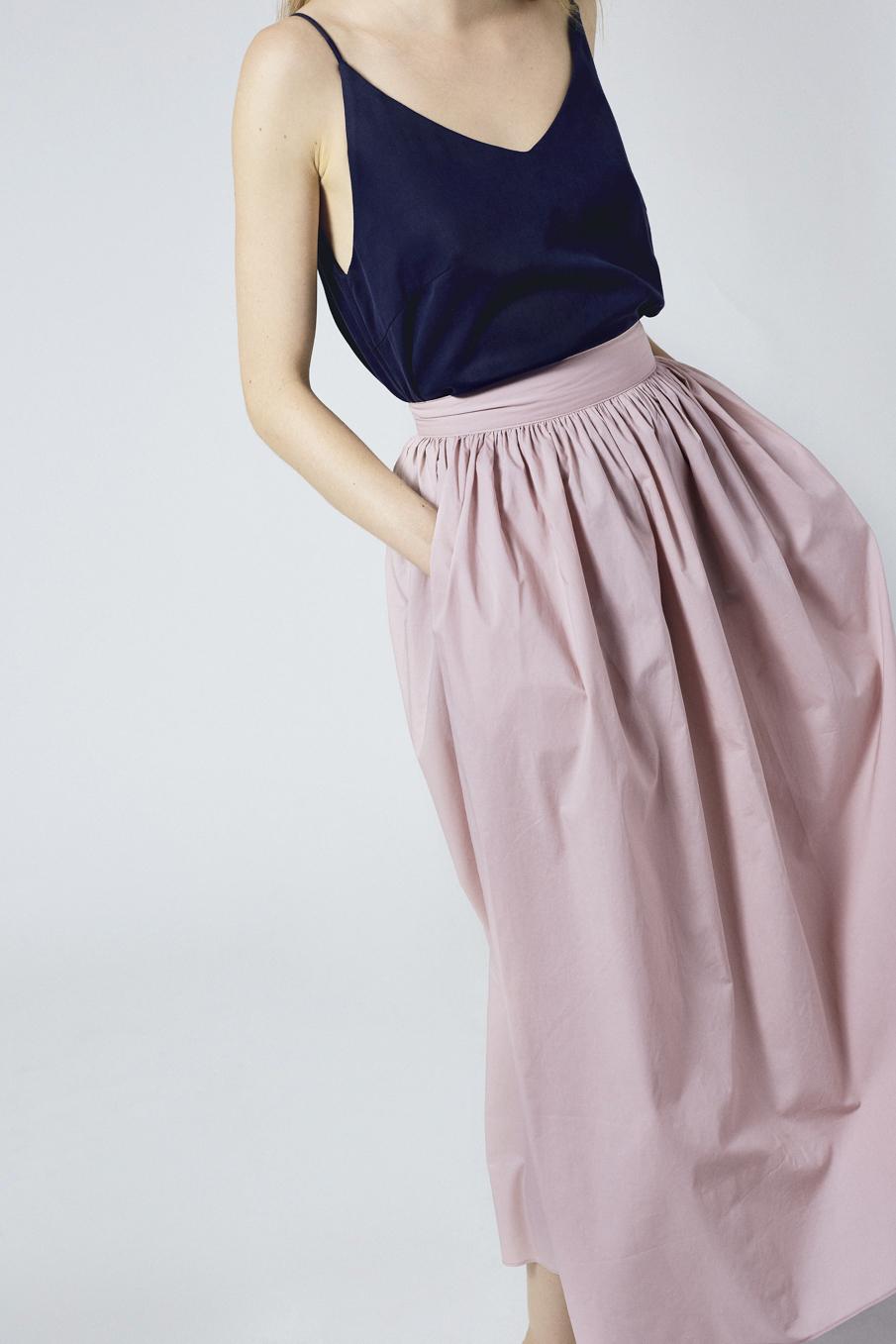Cotton High-waisted Skirt