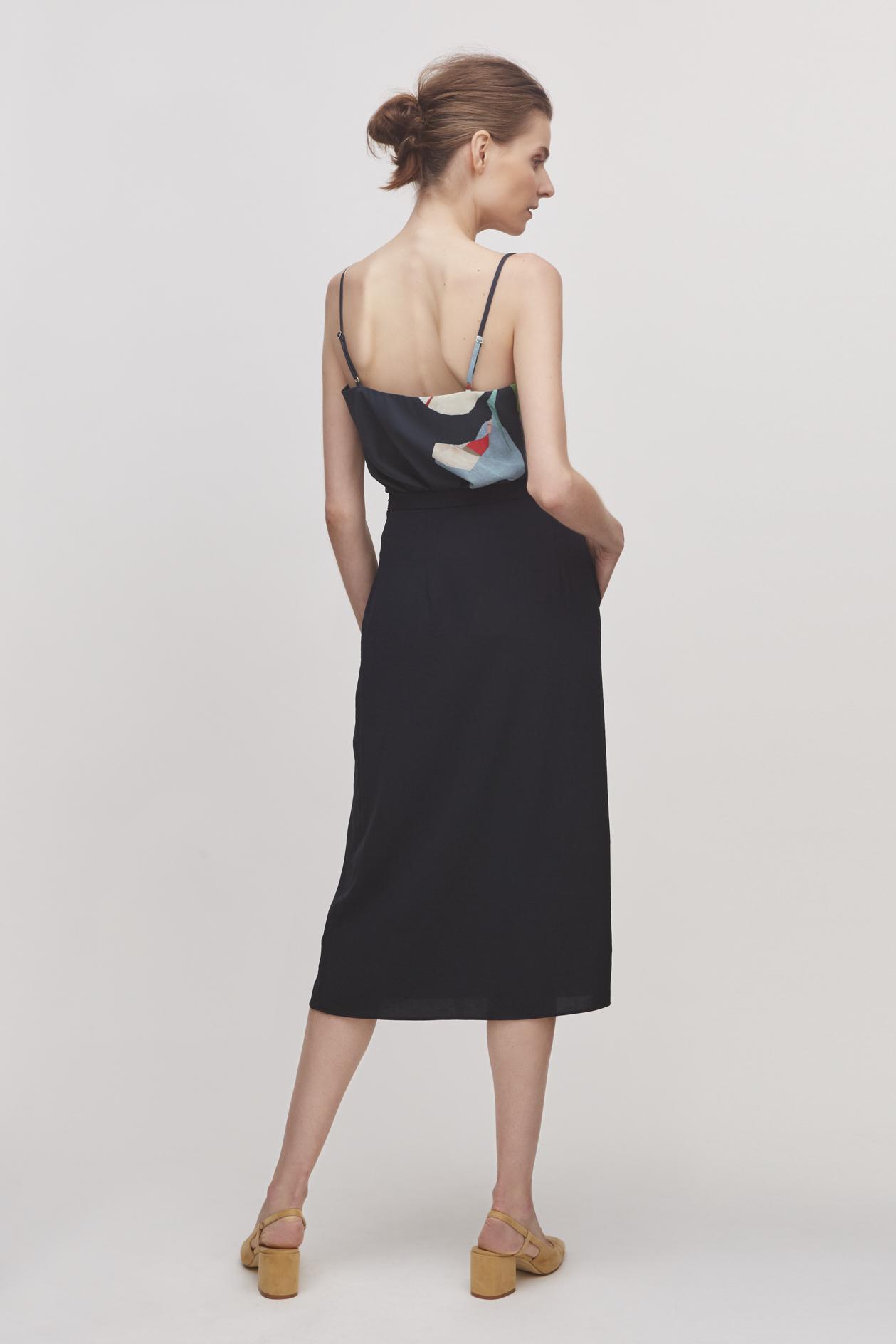 Midi Overlap Skirt