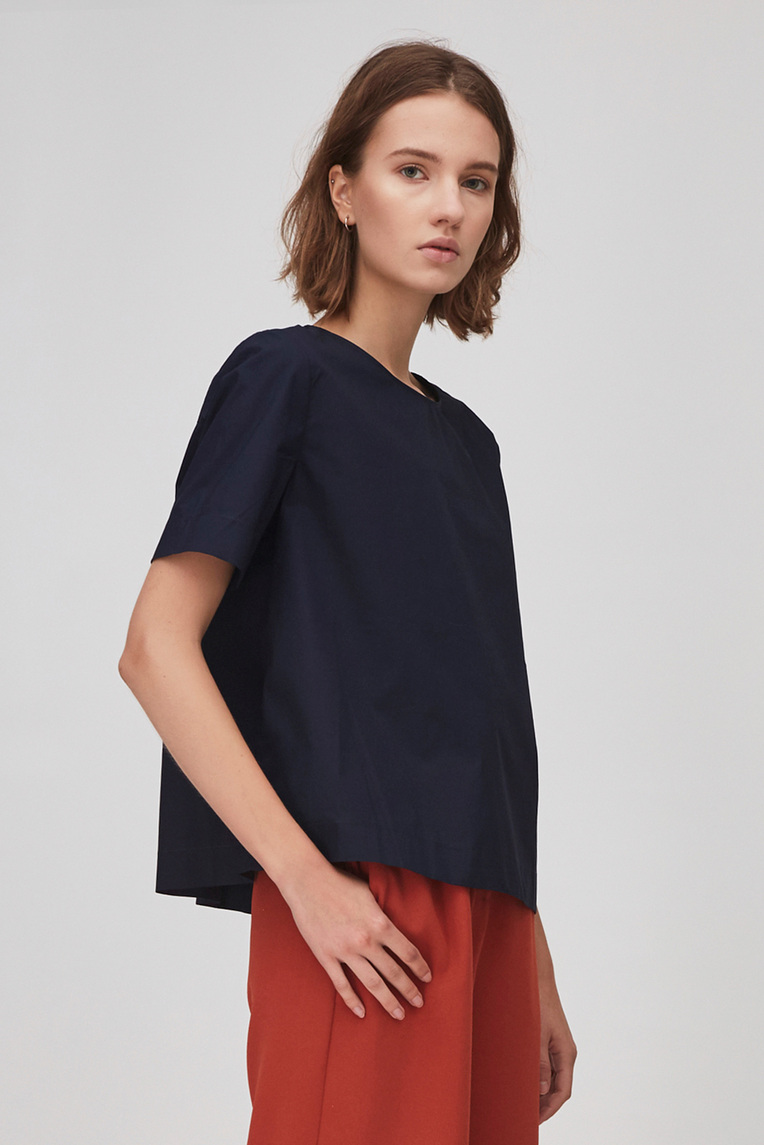 Cotton Gathered Top