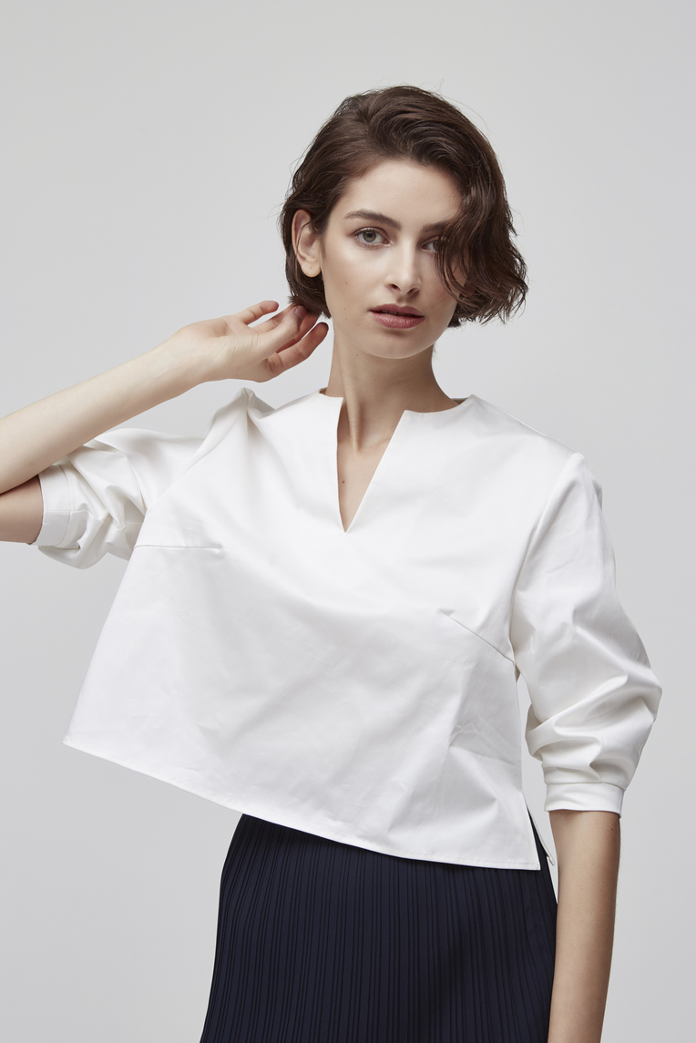 Cotton Sleeved Top