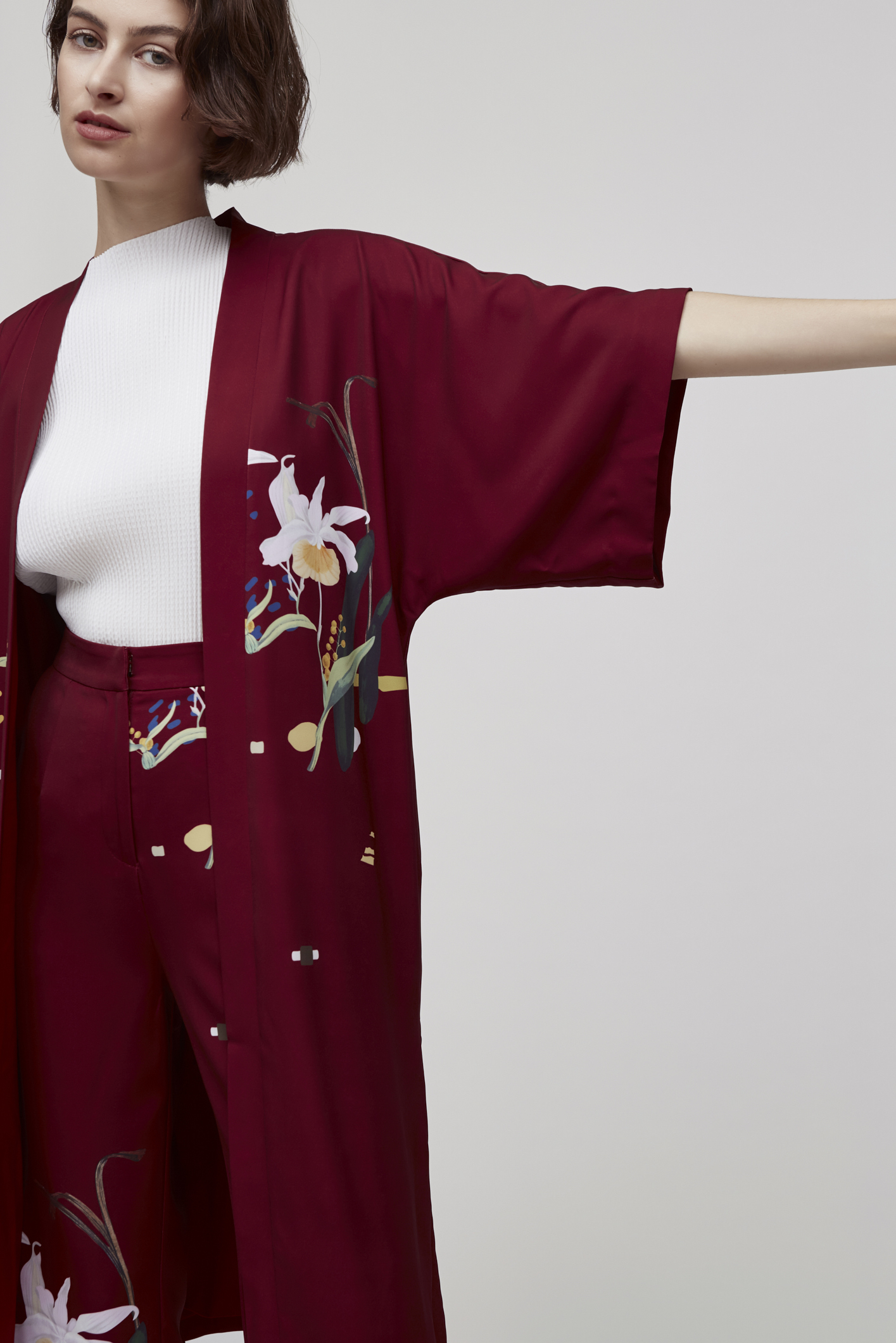 Lily of the Valley Duster Kimono